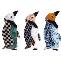 Jack Gifts Australia - Fant&jack Acrylic penguin Brooches Pins For Women Ladies Resin Animal Brooch Scarf Badges Accessories Gifts limited edition