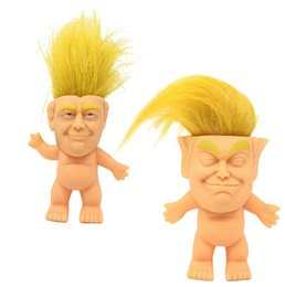 Funny prank giFts online shopping - 2020 Donald Trump Doll USA President Donald Trump Dolls Hair Doll Funny Novelty Gag Gift Prank Joke toy KKA6212