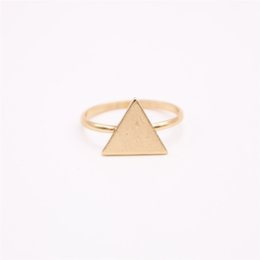 above knuckle ring gold Canada - wholesale 10 pcs lot mix color Cute Brand Fashion Above The Knuckle Ring Midi Top Of Finger Triangle Ring Free Shipping