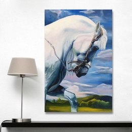 power sheets UK - Wall Canvas Art Home Decor Animal Power and Strength Horse Oil Painting For Living Room No Frame Poster and Prints No Framed