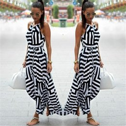 $enCountryForm.capitalKeyWord Canada - Women Sexy Summer Dress Boho Striped Sleeveless Maxi Long Dress Beach Style Strap Sundress Vestidos for Female NQ987428 S918