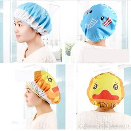 Women Waterproof Shower Bath Cap Hat With Bear Bowknot Balloon Cherry Design For Adult D5 Bath