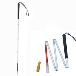 $enCountryForm.capitalKeyWord Australia - 105-155cm Visually Impaired White Cane ,Aluminium Folding Blind Walking Stick, Blind Cane, Reflective Red & White, Black Handle