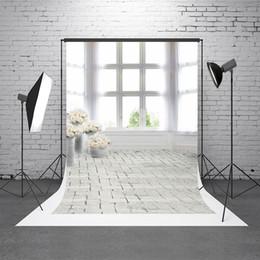 scenic backdrop brick wall 2019 - Kate White Indoor Wedding Photography Backdrop Window Backgrounds For Photo Studio Brick Wall Washable Photographer Back