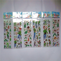 Pvc Puffy Stickers Australia - Hot Sale 20 Sheets lot 3D Puffy Bubble PVC Stickers Mixed Cartoon Mickey Cars Spiderman Waterpoof DIY Children Kids Boy Girl Toy