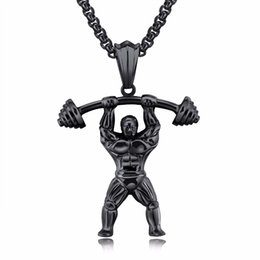 China Fashion New design Sport Men Necklace Gym Weightlifting Bodybuilding Collar Fitness pendant Gym Exercise Necklace for Men cheap bodybuilding pendant suppliers