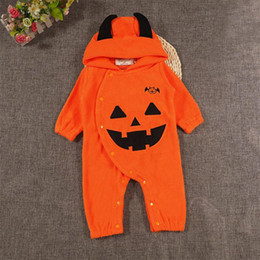 781d805e88872 Kawaii Kids clothes online shopping - Newborn Baby Pumpkin Jumpsuits Kawaii  Pumpkin Rompers Baby Boy Girl