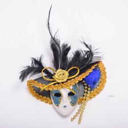 020a2286b3ffb Novela Sombrero veneciano Máscara Ornamento Imán de Nevera Venice Tourist  Souvenirs Decoración Del Hogar Rojo Verde Azul Rosa Amarillo 12 unids    lote ...