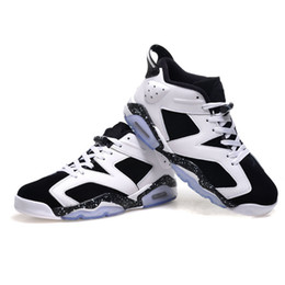 new style e2e69 aec81 Free shipping 6 carmine basketball shoes Classic 6s UNC black blue white infrared  low chrome women men sport blue red oreo alternate Oreo