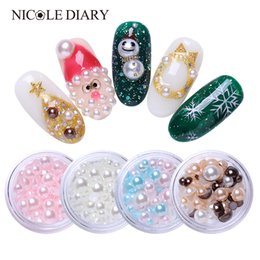 Chinese  1 Box Colorful Mixed Rhinestone Flat Back Pearls Embellishments Face Craft Card Making Manicure Tips DIY 3D Nail Art Decoration manufacturers