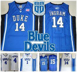 Ingram Duke Jersey NZ - COLLEGE Stitched NCAA DUKE Retro Zion Williamson 12  IRVING ALLEN INGRAM da2e46f8f