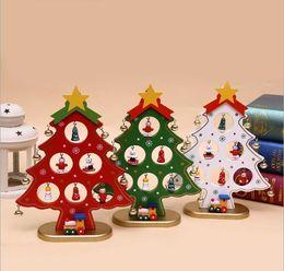 $enCountryForm.capitalKeyWord NZ - DIY Cartoon Wooden Artificial Christmas Tree Decoration Christmas Gift Ornament Table Desk Party Decoration Fast Shipping