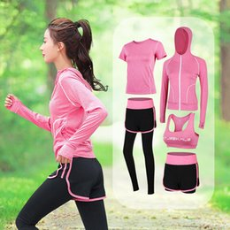 $enCountryForm.capitalKeyWord NZ - 5in1 High Waist Yoga Suit Set Polyester fiber Gym jogging Suits Quick drying Professional fitness clothes S M L XL XXL
