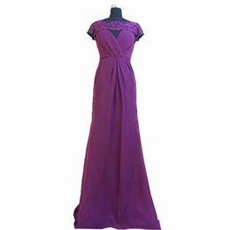 $enCountryForm.capitalKeyWord UK - 2018 Ghands JJShouse Chiffon Lace Tow piece of Suit Floor-Length Formal Gowns Wedding Guest Mother of The Bride Dresses Custom Size