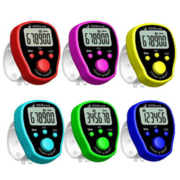 Discount electronic tally - 5 Channel Finger Counter LCD Electronic Digital Chanting Counters Tally Counter