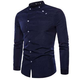 $enCountryForm.capitalKeyWord NZ - New Europe and the United States men's shirt fashion tailor-made double door design long-sleeved men's shirt casual travel shirt