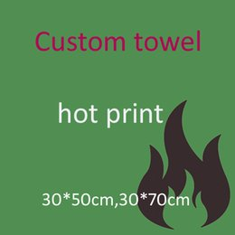 EmbroidEry facE towEls online shopping - beach towel Custom logo size cm cm hot print embroidery sublimation impression hand wash towelbeach towel