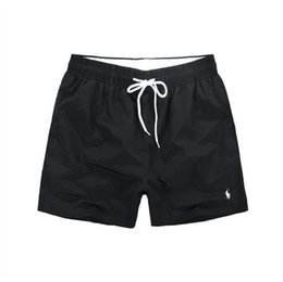 Venta al por mayor de 2018 Pantalones cortos de los hombres al por mayor de la marca de fábrica de la ropa del traje de baño de los hombres de Nylon Shorts de la playa de la marca pantalones cortos de la tabla de la nadada del desgaste del caballo pequeño M-XXL
