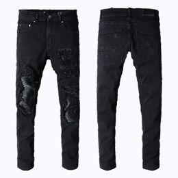 True slim jeans online shopping - Mens jeans miri sports running Motorcycle biker jeans skinny Slim ripped Popular Cool beggar Mottled hole true pants men designer jeans