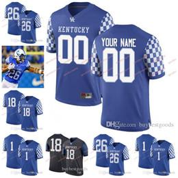 KentucKy football online shopping - Custom Kentucky Wildcats College Football Personalized Terry Wilson Benny Snell Jr Lynn Bowden Jr Clark Any Name Number Jerseys