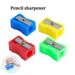 $enCountryForm.capitalKeyWord Australia - Pencil Sharpeners Easy To Use Office School Pen Pencil Sharpener High Quality Fashion Single Holes Pencil Cutter light weight Free Shipping