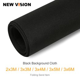 Discount spray painted backdrop - 2x3m 3x3m 3x4m 3x5m 3x6m Black Non-woven Fabric Photo Photography Backdrop Background Cloth for Photo Studio Backgrounds