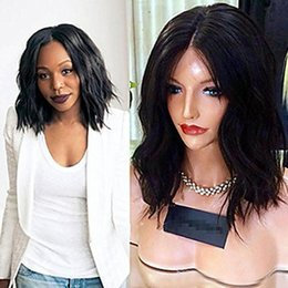 $enCountryForm.capitalKeyWord Australia - Short Curly Full Lace Human Hair Wigs For Black Women Brazilian Virgin Hair Glueless Short Bob Wavy Lace Front Wig With Baby Hair