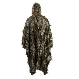 $enCountryForm.capitalKeyWord UK - Lifelike 3D Leaves Camouflage Poncho Cloak Stealth Suits Outdoor Woodland CS Game Clothing for Birdwatching Set
