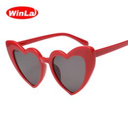 32ffe82384 Diseño de Moda Winla Mujeres Gafas de Sol Gafas de Sol de Forma de Corazón  Único Clásico Marco de Mariposa Gafas de Lujo UV400 WL1205