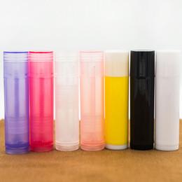Refillable Lipstick NZ - 5g Plastic Lipstick Tube Refillable Bottles 5ml Empty Lip Balm Tube For Cosmetic Packing Wholesale