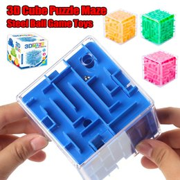 3d maze balls 2019 - 3D Mini speed cube maze Magic Cube Puzzle game Cubes Magic learning toys maze Rolling Ball toys for kids adults funny to