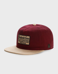 Chinese  free shipping cheap high quality hat classic fashion hip hop brand man woman snapbacks maroon sand C&S CL 1-800 DECONSTRUCT CAP manufacturers