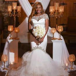 Yellow Gray Wedding Dresses Australia - Luxury Mermaid Wedding Dress Satin Pleat Bride Dress Plus Size Wedding Dress vestido de noiva