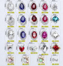 $enCountryForm.capitalKeyWord Australia - 20Pcs 3D Nails Charms Glass Crystal Diamonds Nail Art Design Stone Decorations Strass Jewelry DIY Nail Art Adhesive Rhinestones
