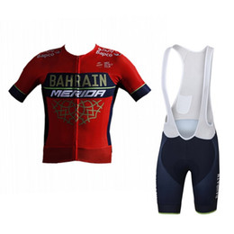 China 2018 uci pro team bahrain merida summer cycling jersey kits breathable Bicycle maillot MTB bike clothing Ropa ciclismo gel pad suppliers