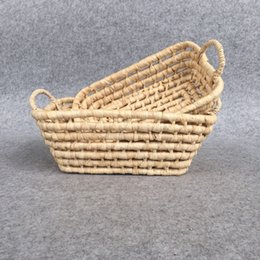 Used Toys Wholesale Australia - Quality Fake Rattan Wicker Bread Basket,High quanlity Plastic PP small rectangular woven storage basket,used for sundries,food or toy