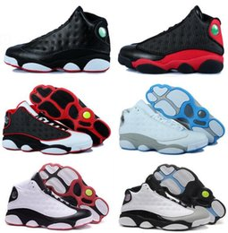 Hologram Shoes NZ - 13 XIII 13s Men Basketball Shoes Women Bred Black Brown White hologram flints Grey Sports Sneakers Size US 5.5-13