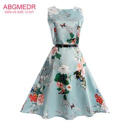 4bd0ff47744d ABGMEDR Brand Autumn Dress for Monsoon Kids Floral Printed Children Clothes  for Teens Girl 2017 Summer 16 14 Yrs Girls Dresses