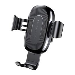Nouvelle arrivée de voiture chargeur Qi sans fil pour iPhone X 8 Plus charge rapide charge rapide sans fil de charge support de voiture support pour Huawei