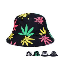 6bd541cea83 Maple Leaf Bucket Hat Men s Print Cap Foldable Cotton Summer Women Outdoor Fishing  Hats Hip Hop Cap Bucket Hat Beach Hats