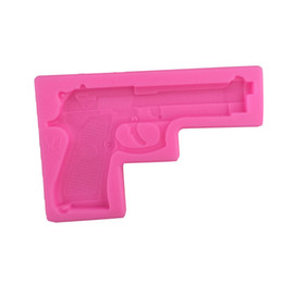 Sugar gun online shopping - Halloween Baking Moulds D Gun Pistol Silicone Cake Decorating Fondant Mold Sugar Craft Molds Candy Chocolate Mold Candy Making Molds