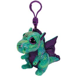 Ty Beanie Boos Big Eyes Plush Green Dragon Keychain Toy Doll 10cm No Tag ae718efcb322