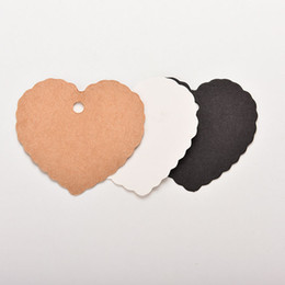 Wholesale greeting card blanks canada best selling wholesale new 100 pcs lot mini kraft paper heart greeting cards wedding party gift card label blank lage tags m4hsunfo
