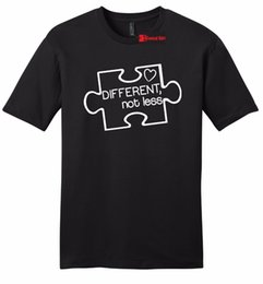 $enCountryForm.capitalKeyWord NZ - Different Not Less Autism Awareness Mens T Shirt Puzzle Autistic Event Tee Z2 Hip-Hop Simple Splicing Tee Tops Shirt