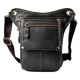 Vintage camera belt online shopping - Vintage Genuine Leather Belt Leg Thigh Waist Fanny Pack Men s Shoulder Bag Camera Tool Kits Organize Bags Cell Phone Cover Case
