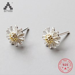 cute jewelry for sale NZ - 2018 Hot Sale 925 Sterling Silver Sun Flower Earrings Cute Small Daisy Earrings for Women Fashion Jewelry Gifts