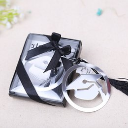 $enCountryForm.capitalKeyWord NZ - Free shipping 20pcs graduation cap bookmark with Elegant black tassel graduate party and gifts party souvenirs