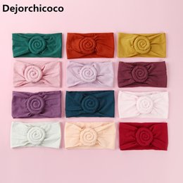 $enCountryForm.capitalKeyWord NZ - Lovely Girls Round Ball Nylon Headbands Newborn Baby Super Soft Nylon Head Bands Elastic Girls Bandage Head Wraps Hair Wear