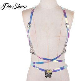 Chinese  Feeshow Unisex Exotic Body Chest Harness Bondage Costume Sexy BDSM Bondage Party Lingerie Sexy Men Tanks Underwear manufacturers