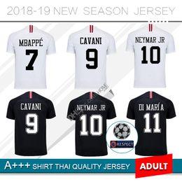 Discount jersey paris - 2018 MBAPPE 7  Soccer Jersey 18 19 Paris Third  Black White 638700e3d